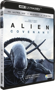 Alien : Covenant (2017) de Ridley Scott – Packshot Blu-ray 4K Ultra HD