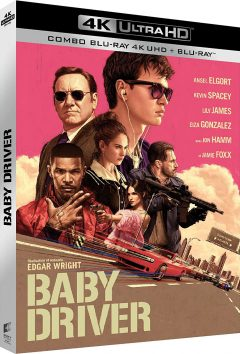 Baby Driver (2017) de Edgar Wright - Packshot Blu-ray 4K Ultra HD