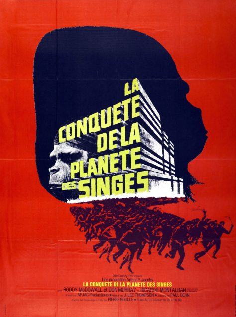 La Coquête de la planète des singes - Affiche Fr