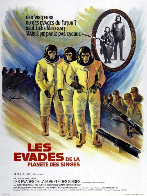 Les Evadés de la planète des singes - Affiche Fr