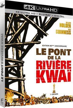 Le Pont de la rivière Kwaï (1957) de David Lean - Packshot Blu-ray 4K Ultra HD