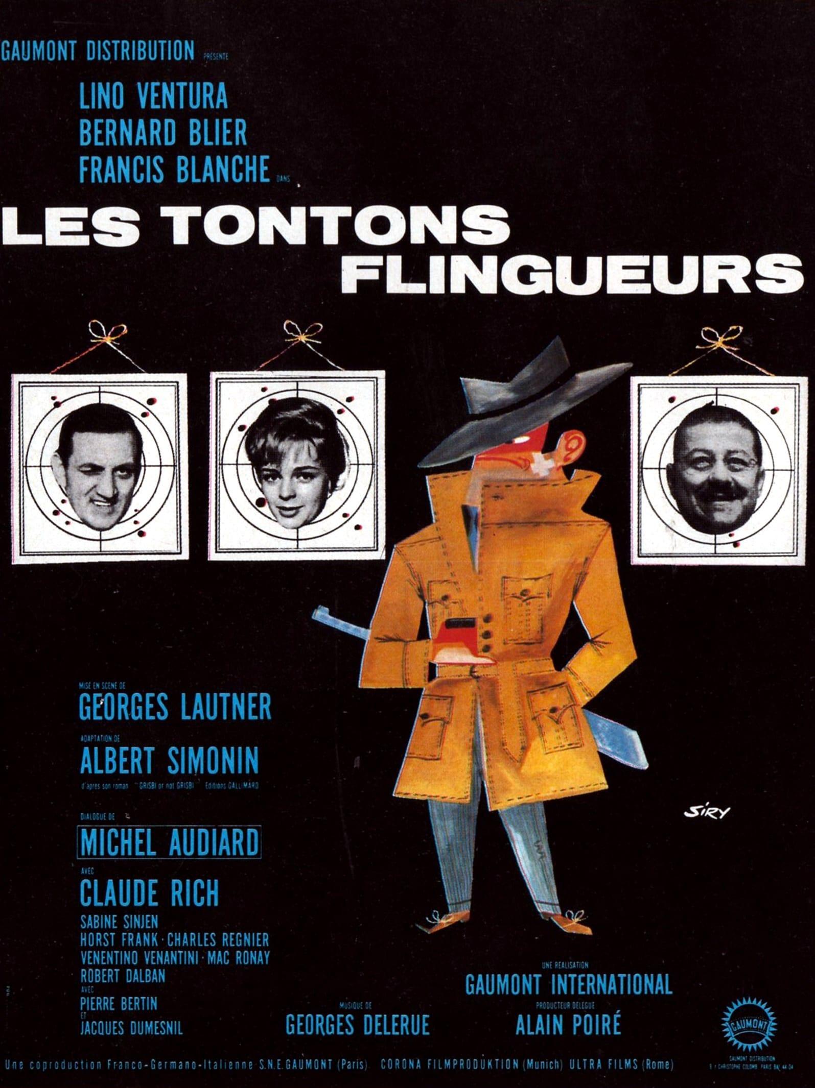 Les Tontons flingueurs (1963) de Georges Lautner - Affiche