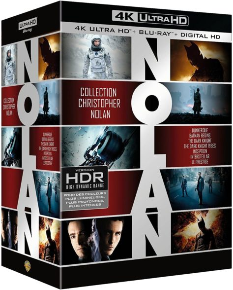 Coffret Christopher Nolan 7 Films - Packshot Blu-ray 4K Ultra HD