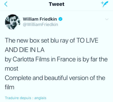 Friedkin - Tweet To Live and Die in L.A.