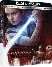Star Wars : Épisode VIII - Les Derniers Jedi (2017) de Rian Johnson - Packshot Blu-ray 4K Ultra HD