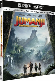 Jumanji : Bienvenue dans la jungle (2017) de Jake Kasdan - Packshot Blu-ray 4K Ultra HD