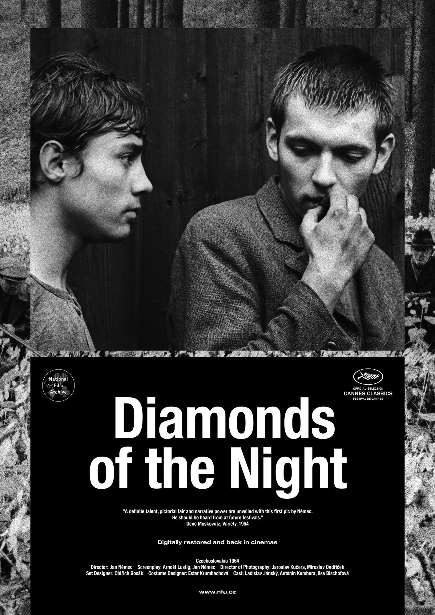 Les Diamants de la nuit - Affiche Cannes Classics 2018