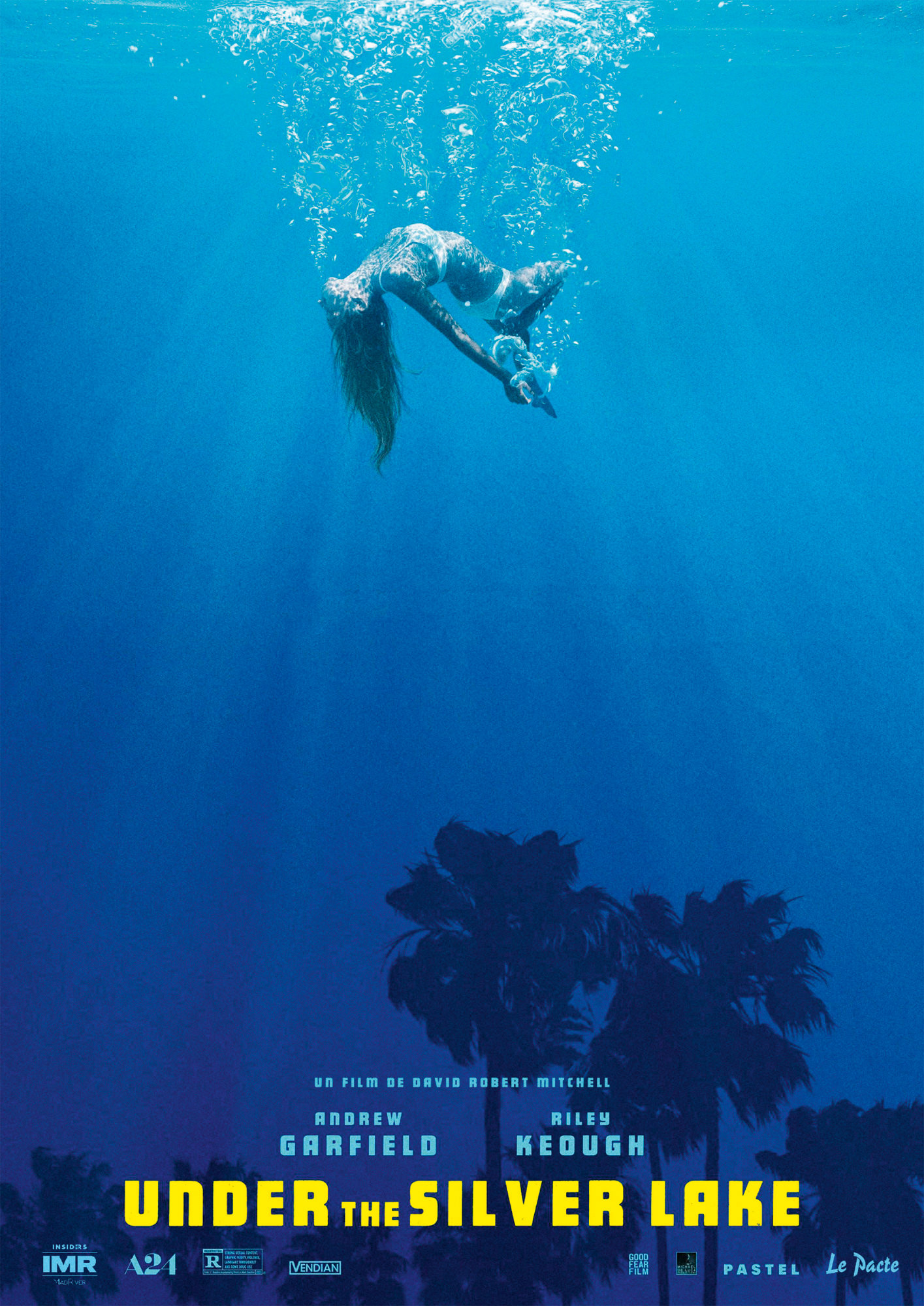 Under The Silver Lake - Affiche Cannes 2018