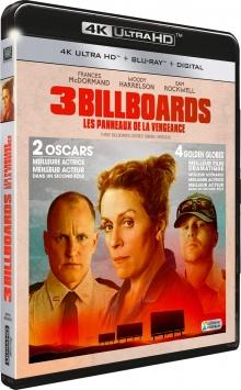 3 Billboards, Les Panneaux de la vengeance (2017) de Martin McDonagh – Packshot Blu-ray 4K Ultra HD