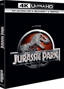 Jurassic Park (1993) de Steven Spielberg – Packshot Blu-ray 4K Ultra HD
