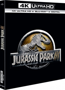 Jurassic Park III (2001) de Joe Johnston – Packshot Blu-ray 4K Ultra HD