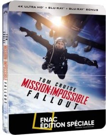 Mission : Impossible - Fallout - Steelbook Édition spéciale Fnac (2018) de Christopher McQuarrie - Packshot Blu-ray 4K Ultra HD