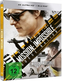 Mission : Impossible - Rogue Nation - Steelbook (2015) de Christopher McQuarrie - Packshot Blu-ray 4K Ultra HD