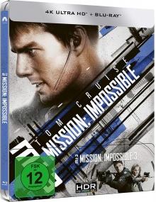 Mission : Impossible III - Steelbook (2006) de J.J. Abrams - Packshot Blu-ray 4K Ultra HD