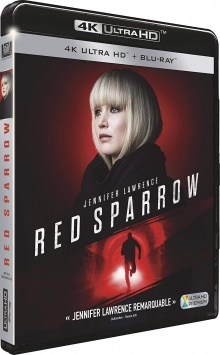 Red Sparrow (2018) de Francis Lawrence – Packshot Blu-ray 4K Ultra HD