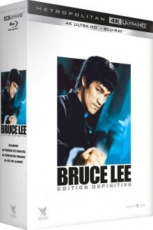 Bruce Lee - Coffret Édition Définitive : Big Boss, La Fureur de vaincre, La Fureur du Dragon, Le Jeu de la mort - Packshot Blu-ray 4K Ultra HD