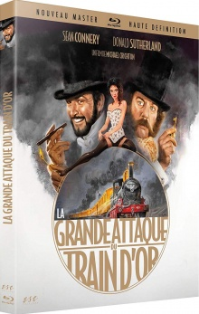 La Grande attaque du train d'or (1978) de Michael Crichton - Packshot Blu-ray