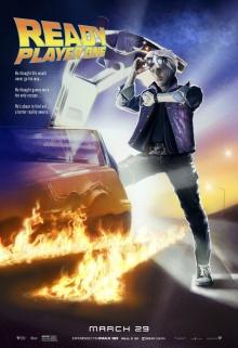 Ready Player One (2018) de Steven Spielberg - Affiche Retour vers le futur