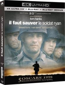 Il faut sauver le soldat Ryan (1998) de Steven Spielberg - Packshot Blu-ray 4K Ultra HD