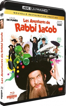 Les Aventures de Rabbi Jacob (1973) de Gérard Oury – Packshot Blu-ray 4K Ultra HD