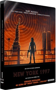 New York 1997 (1981) de John Carpenter - Packshot Blu-ray 4K Ultra HD
