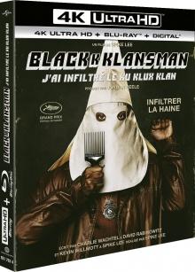 BlacKkKlansman - J'ai infiltré le Ku Klux Klan (2018) de Spike Lee - Packshot Blu-ray 4K Ultra HD