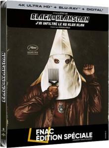 BlacKkKlansman (2018) de Spike Lee - Steelbook Édition Spéciale Fnac – Packshot Blu-ray 4K Ultra HD