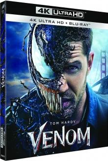 Venom (2018) de Ruben Fleischer – Packshot Blu-ray 4K Ultra HD