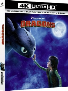 Dragons (2010) de Dean DeBlois & Chris Sanders – Packshot Blu-ray 4K Ultra HD