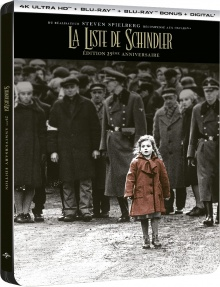 La Liste de Schindler (1993) de Steven Spielberg - Packshot Blu-ray 4K Ultra HD