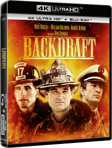 Backdraft (1991) de Ron Howard - Packshot Blu-ray 4K Ultra HD