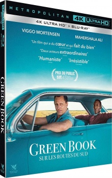 Green Book : Sur les routes du Sud (2018) de Peter Farrelly - Packshot Blu-ray 4K Ultra HD