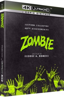 Zombie (1978) de George A. Romero - Packshot Blu-ray 4K Ultra HD