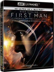 First Man : Le premier homme sur la lune (2018) de Damien Chazelle – Packshot Blu-ray 4K Ultra HD