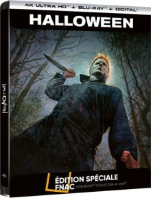 Halloween (2018) de David Gordon Green - Steelbook Édition Spéciale Fnac – Packshot Blu-ray 4K Ultra HD