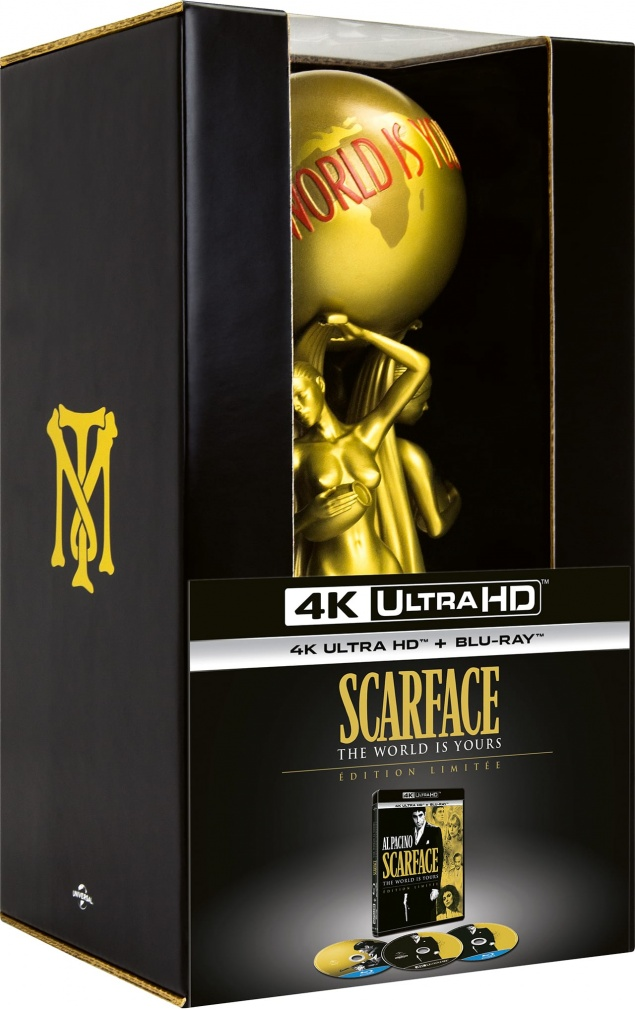 Scarface (1983) de Brian De Palma - Édition The World Is Yours - Packshot Blu-ray 4K Ultra HD
