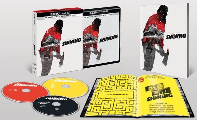 Shining (1980) de Stanley Kubrick - Packshot Blu-ray 4K Ultra HD (Ouvert)