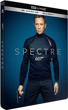 007 Spectre (2015) de Sam Mendes - Édition Limitée SteelBook – Packshot Blu-ray 4K Ultra HD