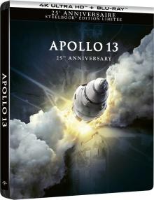Apollo 13 (1995) de Ron Howard - Édition SteelBook 25ème Anniversaire – Packshot Blu-ray 4K Ultra HD