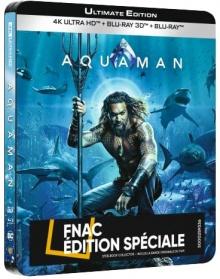 Aquaman (2018) de James Wan - Steelbook Édition Spéciale Fnac - Packshot Blu-ray 4K Ultra HD