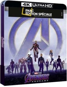 Avengers : Endgame (2019) de Anthony Russo & Joe Russo - Steelbook Édition Spéciale Fnac - Packshot Blu-ray 4K Ultra HD