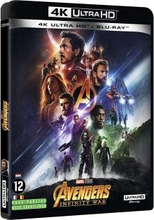 Avengers : Infinity War (2018) de Anthony Russo & Joe Russo - Packshot Blu-ray 4K Ultra HD
