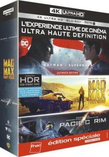 Batman v Superman + Mad Max : Fury Road + Pacific Rim - Édition spéciale Fnac - Packshot Blu-ray 4K Ultra HD