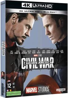 Captain America : Civil War (2016) de Anthony Russo & Joe Russo - Packshot Blu-ray 4K Ultra HD