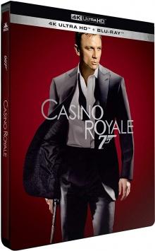 Casino Royale (2006) de Martin Campbell - Édition Limitée SteelBook – Packshot Blu-ray 4K Ultra HD