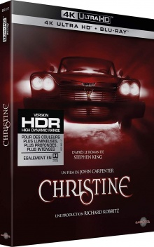 Christine (1983) de John Carpenter - Packshot Blu-ray 4K Ultra HD