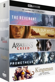 Coffret Le meilleur de la 4K : The Revenant + Seul sur Mars + Assassin's Creed + Prometheus + Kingsman - Packshot Blu-ray 4K Ultra HD
