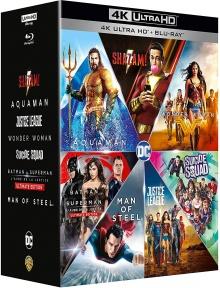 DCEU Intégrale : Man of Steel + Batman v Superman + Suicide Squad + Wonder Woman + Justice League + Aquaman + Shazam! - Packshot Blu-ray 4K Ultra HD