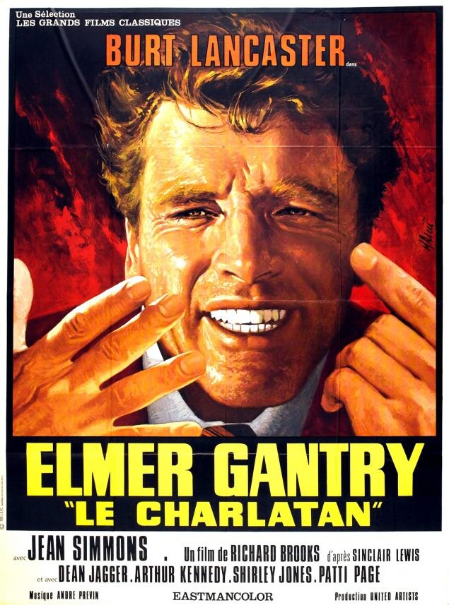 Elmer Gantry, le charlatan - Affiche France