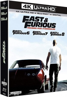 Fast & Furious 6, 7 et 8 - Packshot Blu-ray 4K Ultra HD